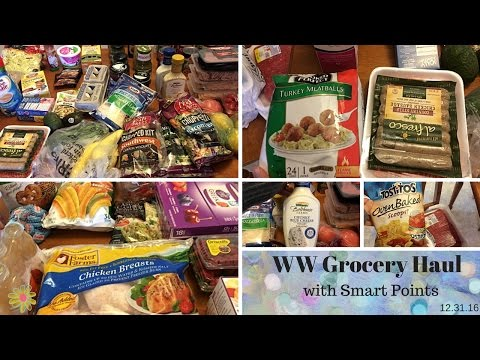 Weight Watchers Grocery Haul | with Smart Points | January Monthly Haul