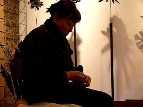 ヒロ画廊の展覧会 江口真代・赤松功二人展 準備風景