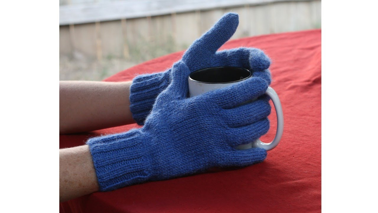 Learn to Knit Gloves, Parts 1-9 - YouTube
