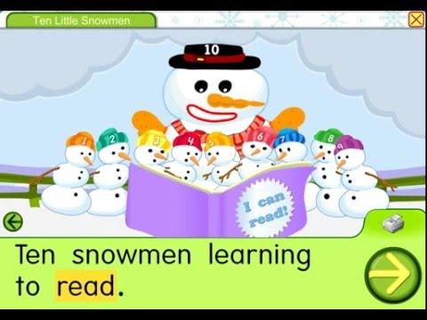 Ten little snowmen starfall