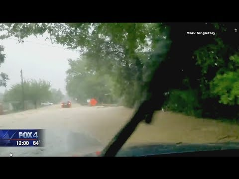 Texas Flash Flood Warning - washed out roads