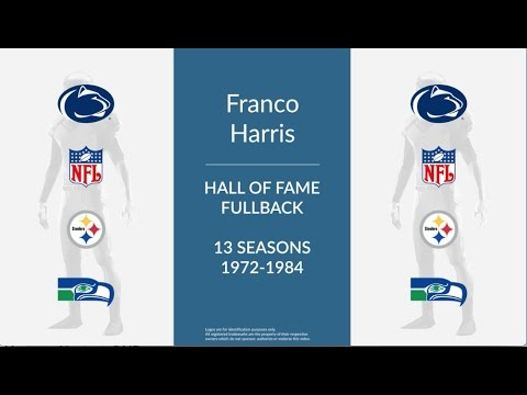 Franco Harris Hall of Fame Football Fullback