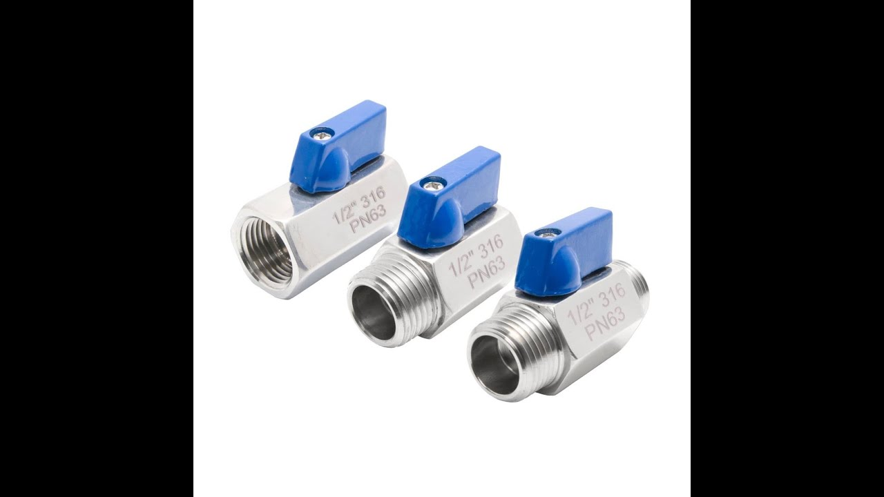 3//8 Stainless Steel FxF NPT Mini Ball Valve 316