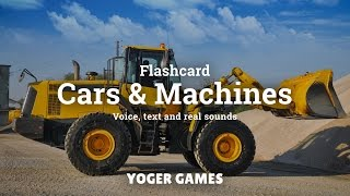 Flashcards for toddlers - First words - Learn about Cars, machines and vehicles - in english