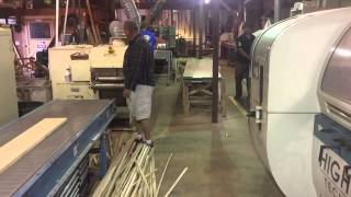 "#soliosmillwork Wood Floor Production Line 8"" White Oak Plank."