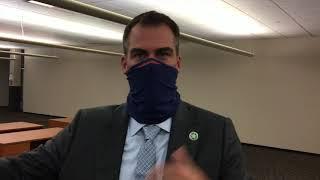 Stitt says he got COVID-19 from Tulsa friends