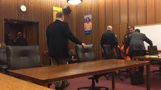 Cleveland man convicted of bar shooting refuses to leave courtroom after verdict