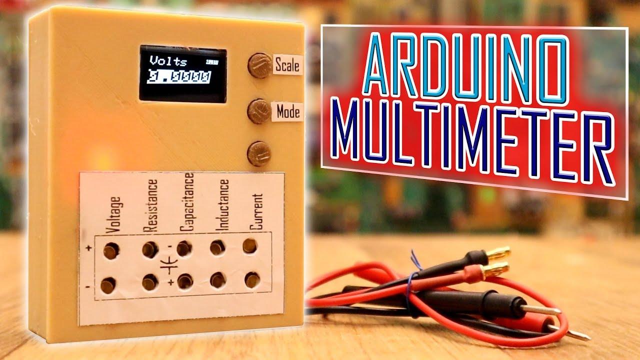 Arduino based multimeter for current voltage indcutance