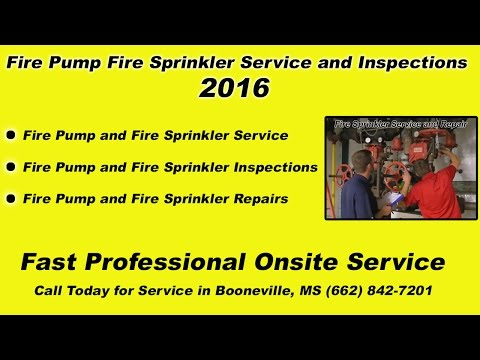 Fire Pump Fire Sprinkler Service Inspections 2016 Booneville MS