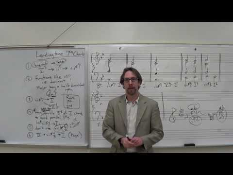 Dr B Music Theory Lesson 31 LeadingTone 7th Chord in Major