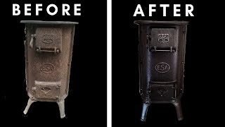 Rusted wood stove-Restoration