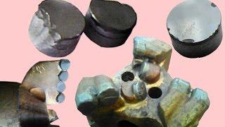 ремонт PDC долото буровое алмазное, ошибки при бурении чужих скважин,  износ алмазного долота