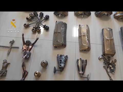 Operación de la Guardia Civil de Baena para recuperar piezas robadas de ornamentación funeraria