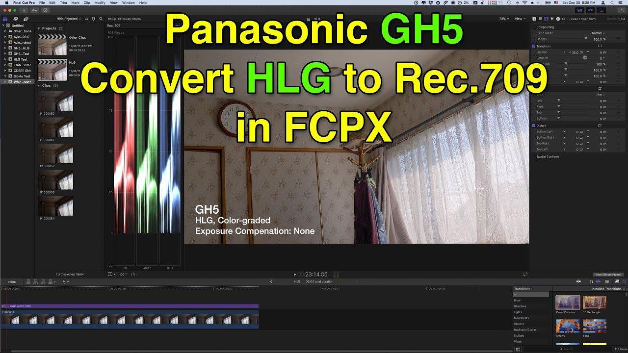 Panasonic GH5, CineD vs  HLG
