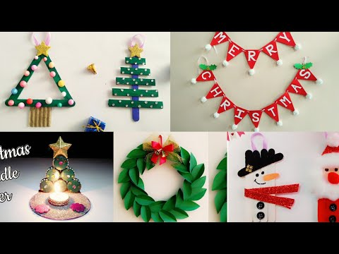 5 Easy Christmas Home Decoration Ideas/Christmas Crafts for Kids School/Christmas Decoration Ideas