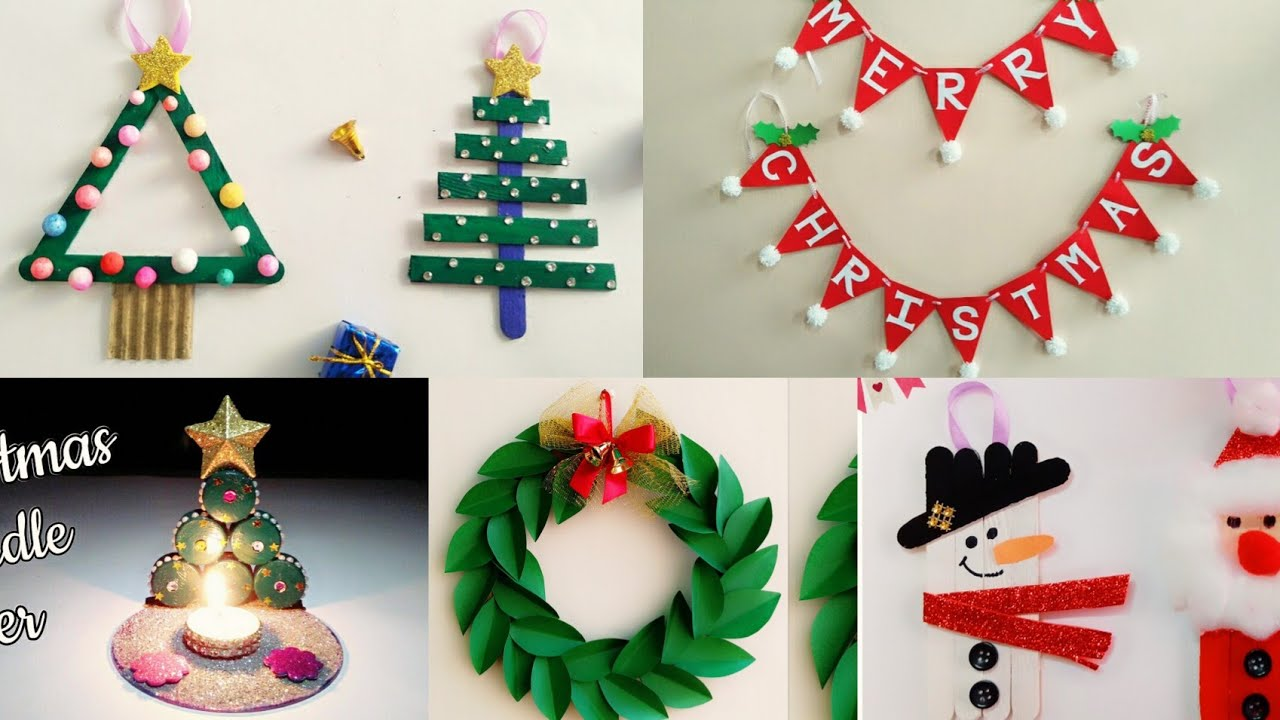 5 Easy Christmas Home Decoration Ideas Christmas Crafts For Kids