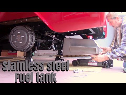 installed stainless steel fuel tank chevy c10