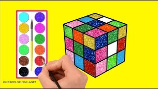 How To Draw Rubik Cube - Coloring Pages Rubik Cubes - Kids Coloring Planet