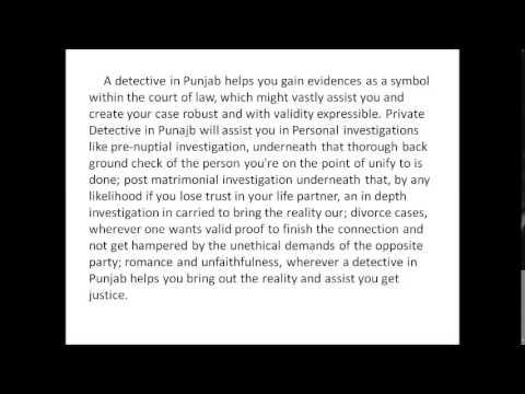 Private Detective in Punjab| Detective agencies in Punjab| Detective agency in Punjab