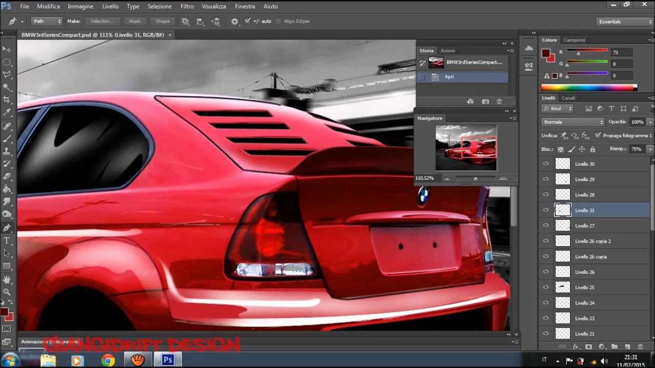 bmw 320 compact virtual tuning photoshop youtube. Black Bedroom Furniture Sets. Home Design Ideas