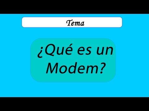 Que es un Modem, Definición de MODEM