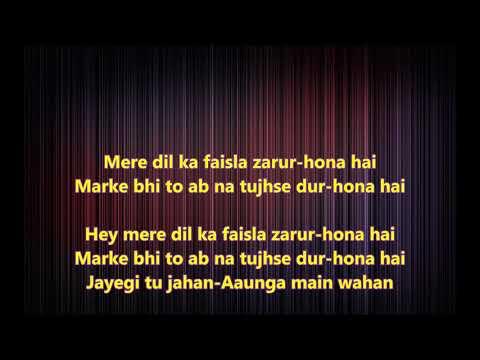 Ae Oh Aa Zara Mudke Mila Aankhen - Disco Dancer - Full Karaoke with scrolling lyrics