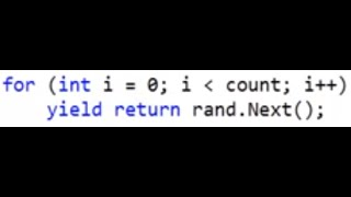 C# yield Statement