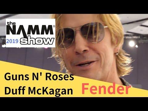 Guns N' Roses bassist Duff McKagan at NAMM Show 2019 / ガンズのDuffから日本に向けたメッセージ付!