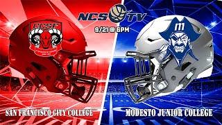 CCSF vs Modesto Junior College Football 9/21/19