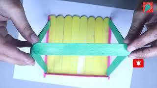 Ide Kreatif - Cara Membuat Ayunan Dari Stik Es Krim  Caranya sangat Mudah
