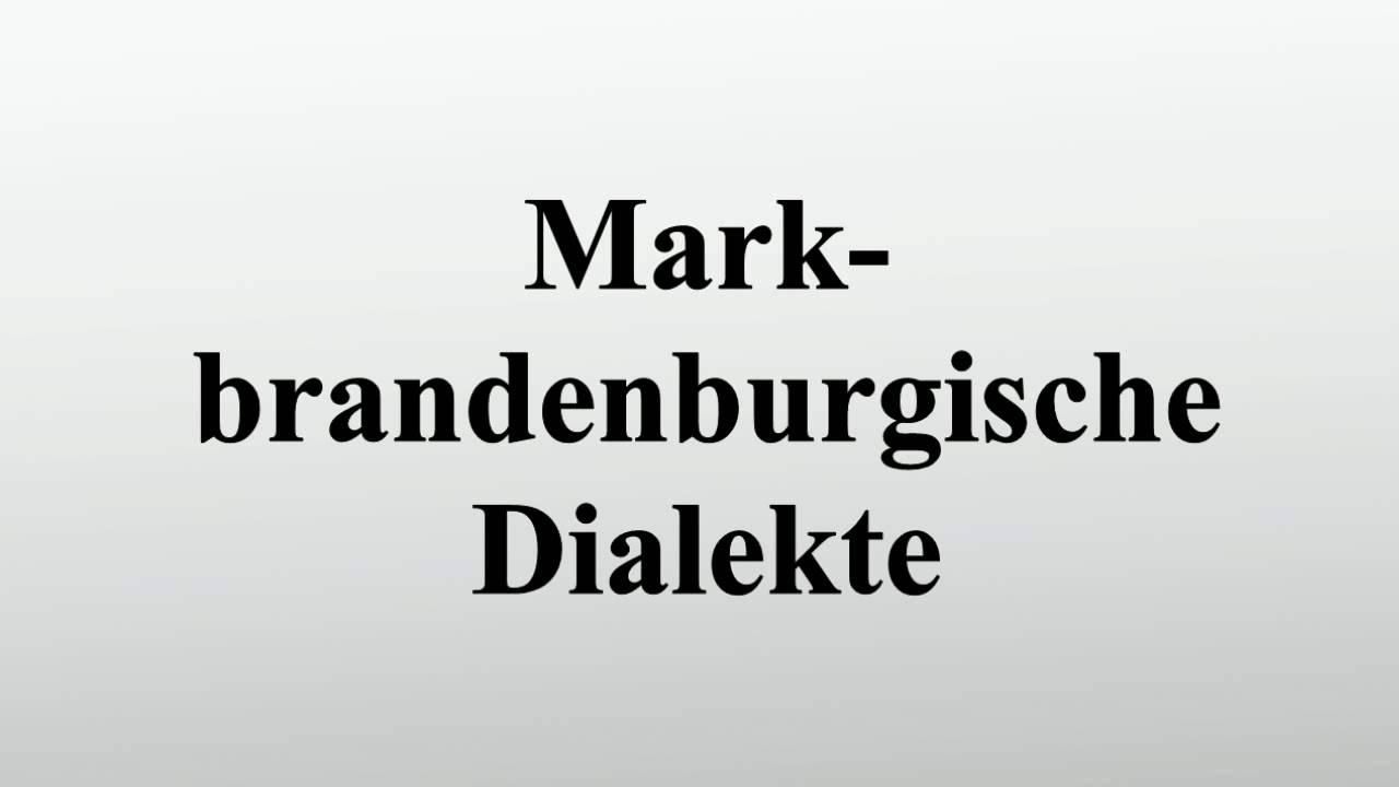 Brandenburger Dialekt