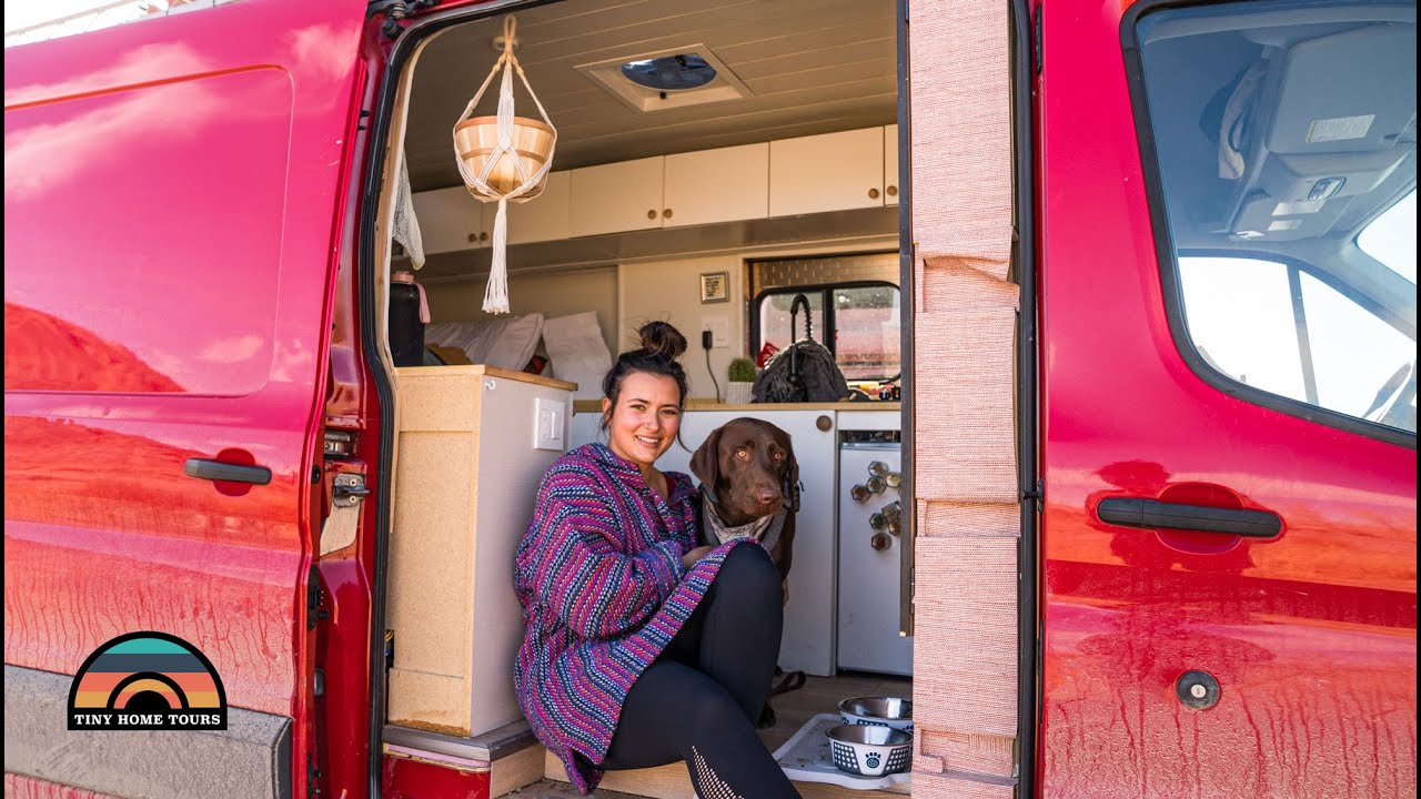 Her DIY Ford Transit Camper Van - Solo Female Vanlife At 26 Years Young