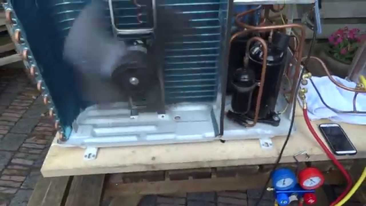 Diy Air To Water Heatpump First Test Run Youtube