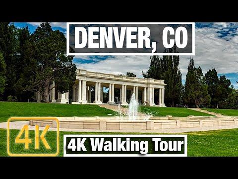 4K City Walks: Denver, Colorado Cherry Creek Area - Virtual Walk Treadmill City Guide Vid