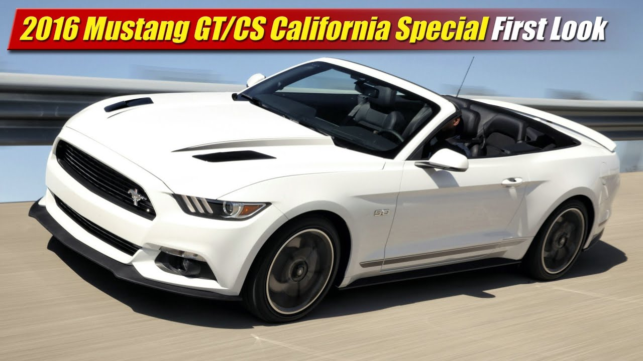 2016 ford mustang gt cs california special first look. Black Bedroom Furniture Sets. Home Design Ideas