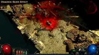 Path of Exile - Demonic Reave Effect
