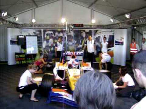 Kerékcsere csajoknak - Pit Stop for Girls - 40 sec. - Hungaroring 20080706 ING Renault Forma I - Formula 1 Trophy - www.kiralyportal.hu