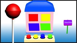 Learn Colors With Lollipops||  Wooden toys Colour Song Collection  || Top  Rhymes Collection