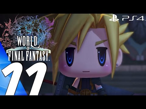 World of Final Fantasy (PS4) - Gameplay Walkthrough Part 11 - Cloud & Cid (Train Graveyard)