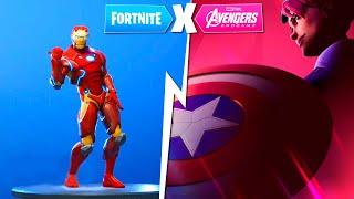 Fortnite X Avengers Endgame IRON MAN Skin Dancing! (Skin Concept) - byReaper