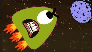 #5 Лизун слизняк летит на Луну на ракете. Симулятор слизня в игре Mutant Blobs Attack