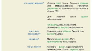 На какие вопросы отвечает сказуемое? Фрагмент урока по вопросу А9 ЕГЭ по русскому языку