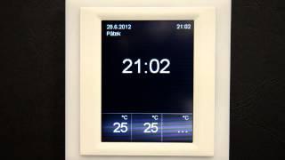 Změna zobrazení času, blokace displeje RFTouch