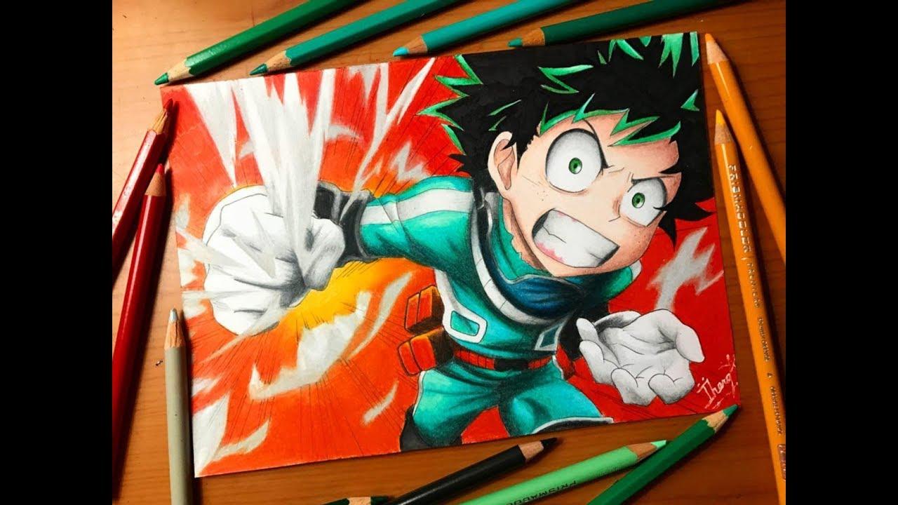 Speed Drawing Izuku Midoriya Deku Boku No Hero Academia Hd