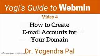 Create an Email Account using Webmin | Yogi's Guide to Webmin | Ep4 | Hindi