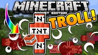 NEW MINECRAFT PE VIRAL TROLL?! TNT Kit Challenge! MCPE Survival Games (Pocket Edition)