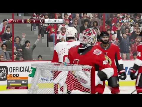 Directo de NHL 18 en PS4 1080p HD Be A Pro Detroit RedWings @ Ottawa Senators 2017/2018 #9