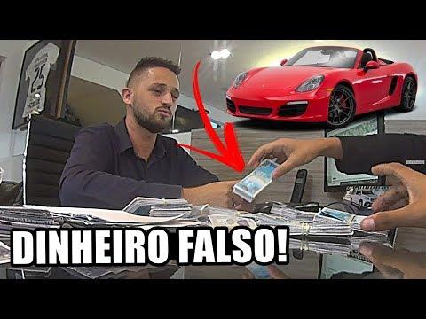 COMPREI UM PORSCHE COM DINHEIRO FALSO!!