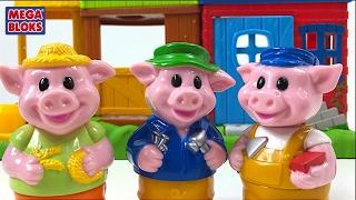 MEGA BLOKS LOS TRES CERDITOS THE THREE LITTLE PIGS  BLOQUES PARA CONSTRUIR BLOCK BUDDIES CON SONIDOS