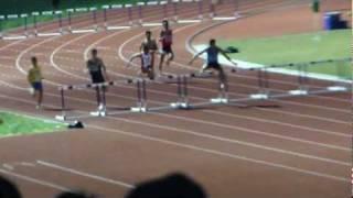 Zaki Sapari, 400m hurdles men Heat #1 Round #1 (SHORT VERSION) - SEA Games 2011